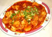 Cod Fillet And Shrimp Sauce Casserole
